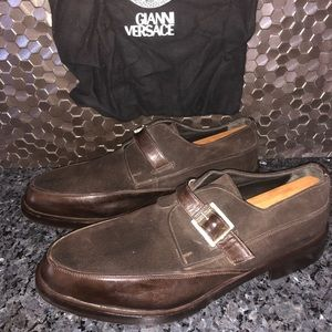 Gianni Versace Men's Suede and Leather Shoes